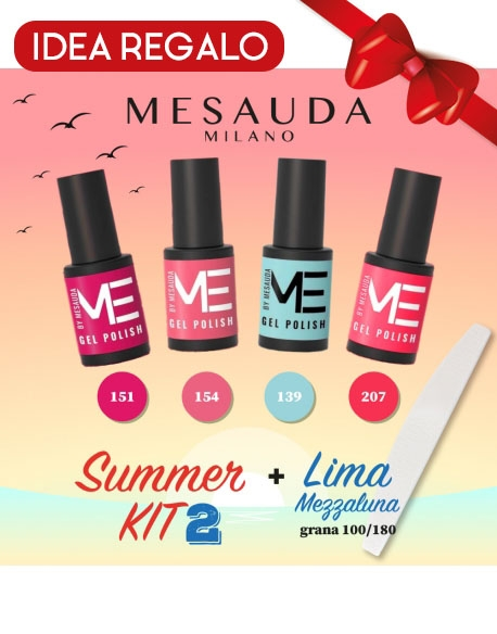 MESAUDA KIT 4 GEL POLISH 5ML ME + LIMA 100/180 - SUMMER KIT 2