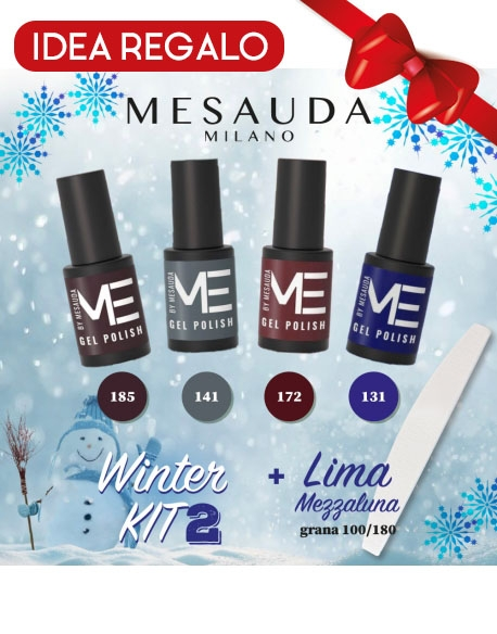 MESAUDA KIT 4 GEL POLISH 5ML ME LIMA 100/180 - WINTER KIT 2