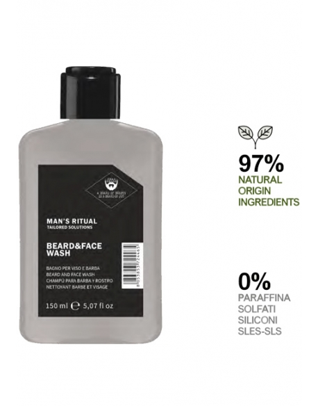 DEAR BEARD MAN S RITUAL BEARD&FACE WASH DETERGENTE 150ml