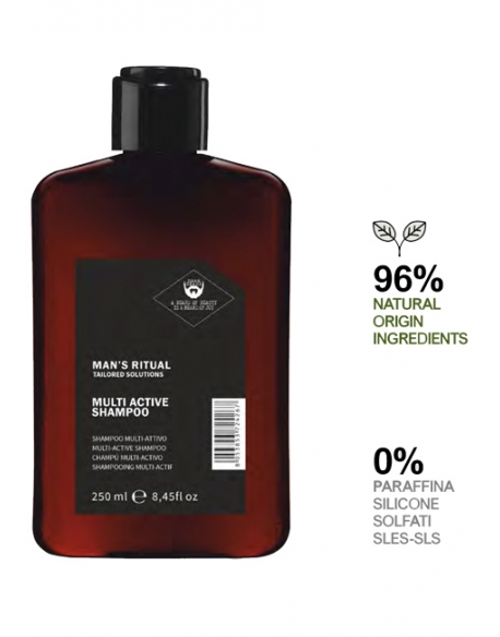 DEAR BEARD MAN S RITUAL MULTI ACTIVE SHAMPOO PURIFICANTE 250ml