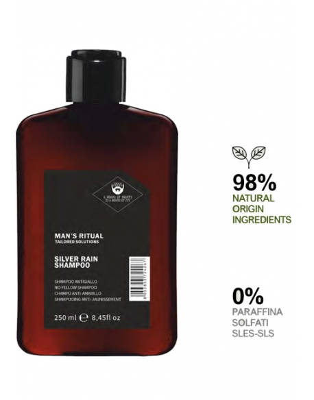 DEAR BEARD MAN S RITUAL SILVER RAIN SHAMPOO ANTIGIALLO 250ml