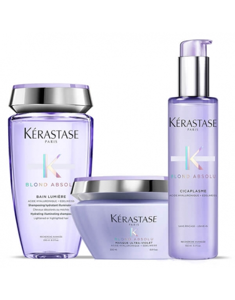 KERASTASE KIT BLOND ABSOLUTE SHAMPOO + MASCHERA + SIERO